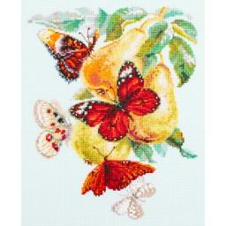 Cross Stitch Kit Butterflies and Pears art. 130-051