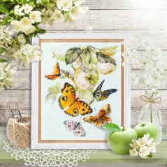 Cross Stitch Kit Butterflies and Apples art. 130-052