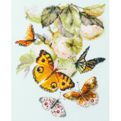 Cross Stitch Kit Butterflies and Apples art. 130-052