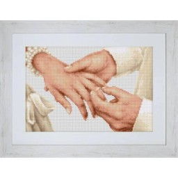 Cross Stitch Kit Forever (Wedding) B2276