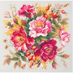 Cross Stitch Kit Flower Magic. Dogrose art. 140-002