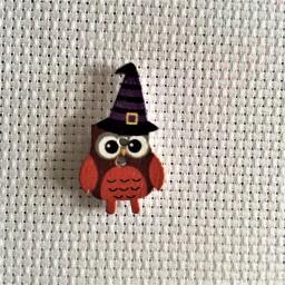 Needle Minder Halloween Owl