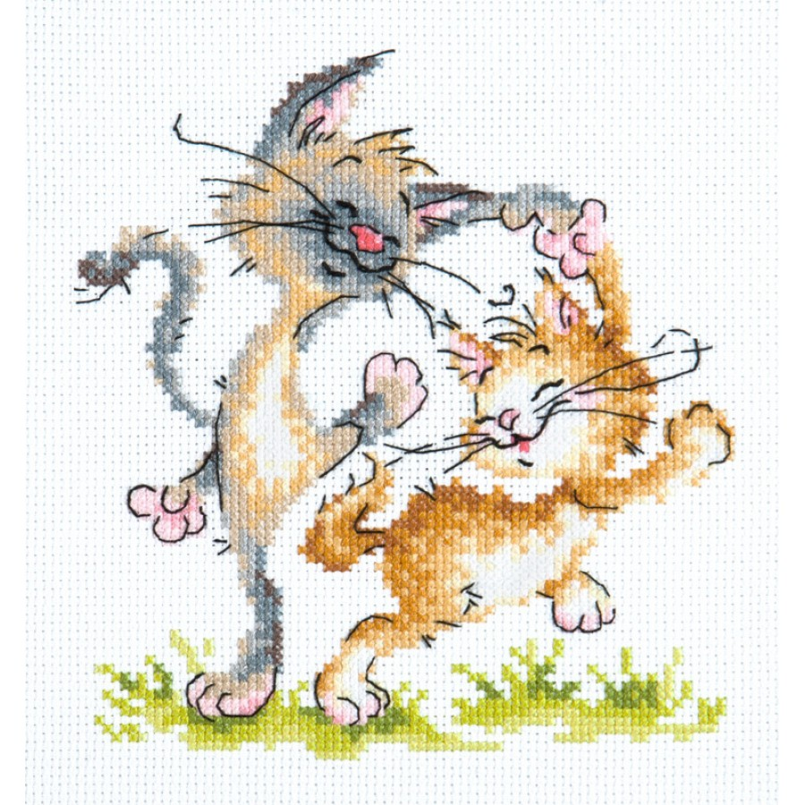 art cat and dog 16-08 Cross Stitch Kit Love
