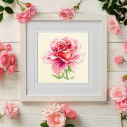Cross Stitch Kit Pink Rose art. 150-002