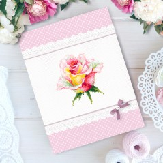 Cross Stitch Kit Blooming Rose art. 150-004