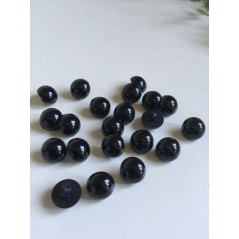 10 Pcs 10mm Black Shank Buttons Plastic Decorative Button DIY Sewing Eye For Dolls Toy Eyes Nose Animal art. 375
