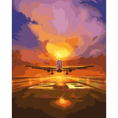 PAINT BY NUMBERS KIT FLIGHT 40X50 CM K02 Framed