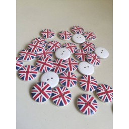 10 Pcs Flowers Printing Retro Fabric Covered Round Home Craft Buttons 115
