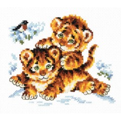 Cross Stitch Kit Childhood (tigers) art. 18-87