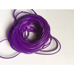 10 meters 1.5MM Waxed Leather Thread Wax Cotton Cord String Strap Necklace Rope dark purple