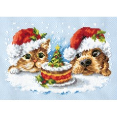 Cross Stitch Kit A delicious Christmas (dog and cat) art. 19-27