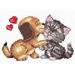 Cross Stitch Kit Love (cat and dog) art. 16-08