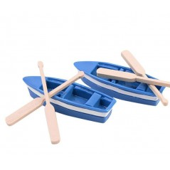 1 Pcs boat and 2pcs oar/doll house//miniatures/lovely cute/fairy garden gnome
