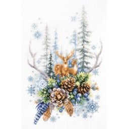 Cross Stitch Kit Winter forest spirit art. 200-017