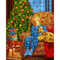 PAINT BY NUMBERS KIT CHRISTMAS NIGHT 40X50 CM L021 Pre-order