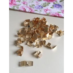 20 pcs Gold Plated Necklace Bracelet Jewelry Caps Crimp Beads Clasp Diy Accessories For Necklace Bracelet Cord Crimp Caps art. 256