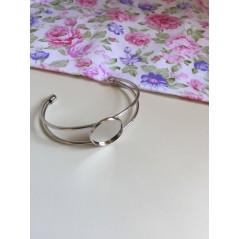1 pc 20mm Round Bangle Bracelet Blank Tray Cabochon Base bezel rhodium art. 262