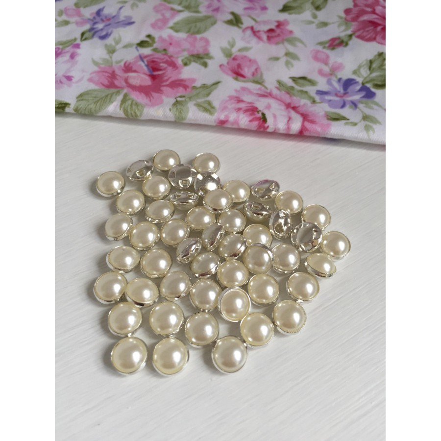 10 Pcs 8mm DIY Sewing Round Pearl Button Clothing Accessories Fit Sewing  art. 288 f9912d5a0910