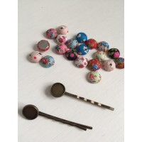 How To Make A Quick Original Hairpins Using Buttons