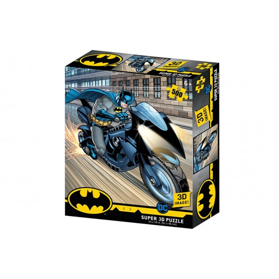 BATMAN BAT CYCLE 3D PUZZLE 500 PIECES