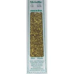 MADEIRA Madeira Metallic 20m art.10 Col. 326 Pure Gold