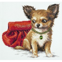 Cross Stitch Kit Chihuahua Dog art. 59-18