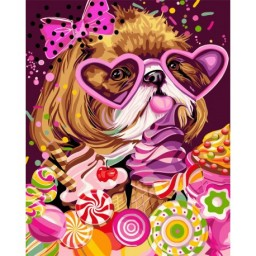 PAINT BY NUMBERS KIT SWEET TOOTH 40X50 CM R008