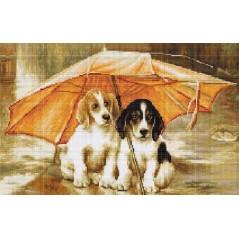 Gobelin kit Couple under an Umbrella Petit point G550