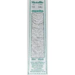 MADEIRA Madeira Metallic 20m art.10 Col. 342 Silver