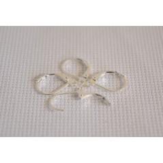 10 pcs 925 Sterling Silver DIY Beadings Findings Earring Hooks Leverback Earwire Fittings Components art. 348