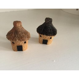 2 Pcs Micro Resin Crafts Mini Landscape House Doll House Fairy Garden Micro Landscape decoration ornament DIY accessories