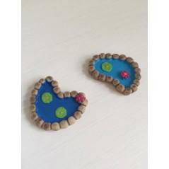 2 Pcs Mini Resin Pools Fairy Garden Miniatures Micro Landscape decoration ornament DIY accessories