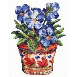 Cross Stitch Kit Blue violets art. 40-35