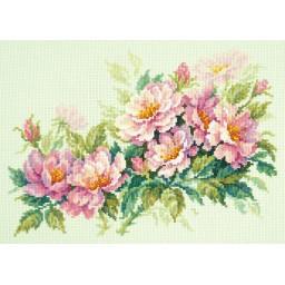 Cross Stitch Kit Dog-rose flower art. 40-74