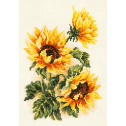Cross Stitch Kit Three sunflowers art. 40-78