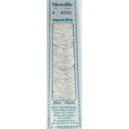 MADEIRA Metallic thread 20m art.4 Col. 4000 Silver Dust