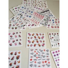 50 Sheets Mixed Designs Water Transfer Nail Art Sticker Watermark Decals DIY Decoration