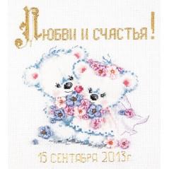 Cross Stitch Kit Love and happiness (wedding) art. 80-01
