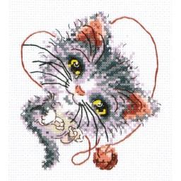 Cross Stitch Kit Cutie (cat) art. 26-24