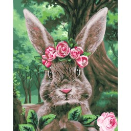PAINT BY NUMBERS KIT RABBIT IN WONDERLAND 40X50 CM H105