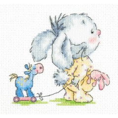 Cross Stitch Kit Come with me (bunny) art. 19-09