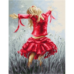 Cross Stitch Kit Dancing in the Field B558