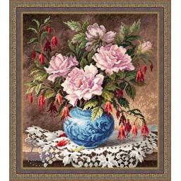 Cross Stitch Kit Roses and Fuchsia art. 40-75