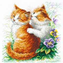 Cross Stitch Kit Gentle care (cat) art. 58-11