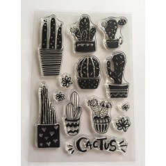 1 PC Cactus transparent silicone clear stamp for scrapbooking album DIY craft decoration rubber stamp 2