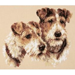 Cross Stitch Kit Fox Terriers (dog) art. 59-26