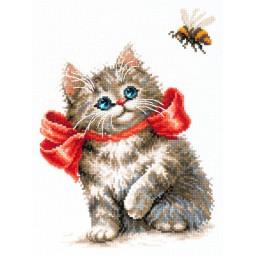 Cross Stitch Kit Genuine interest (cat) art. 58-10