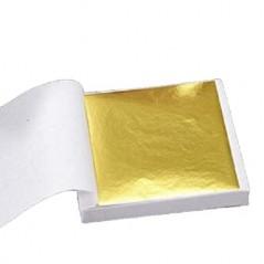 100 Pcs Art Craft Design Paper Imitation Gold Copper Leaf Leaves Sheets
