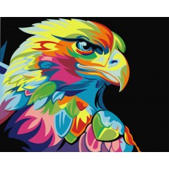 PAINT BY NUMBERS KIT RAINBOW EAGLE T40500008 Framed