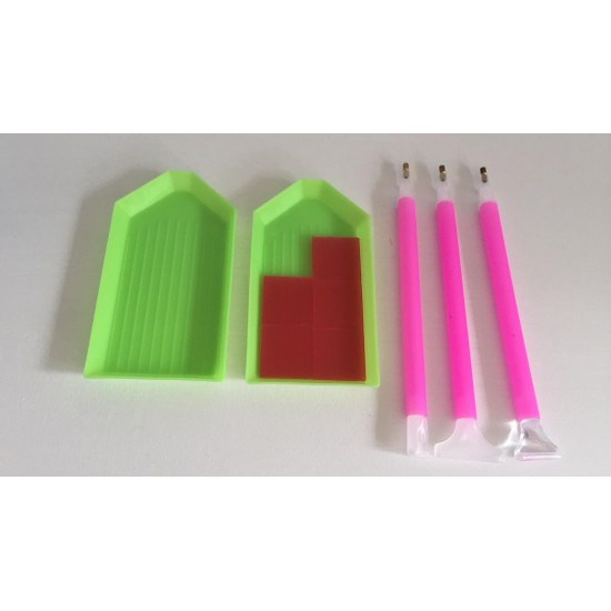 DIY Diamond Painting Accessories set glue, pen and tray